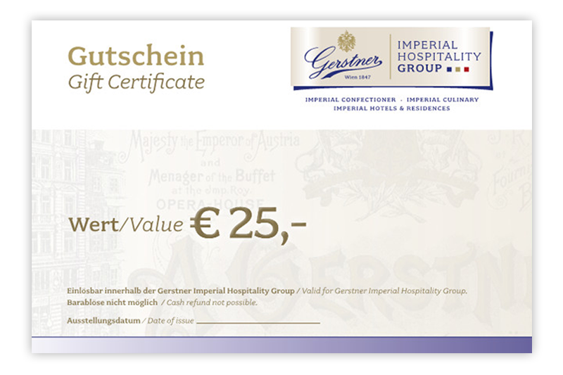 Gift Certificate EUR 25.00