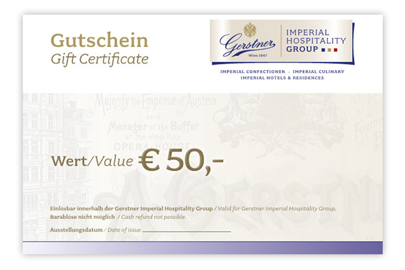 Gift Certificate EUR 50.00